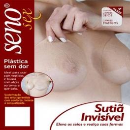 SENO Sutiã Invisível ERGUE Os Seios 04 PARES